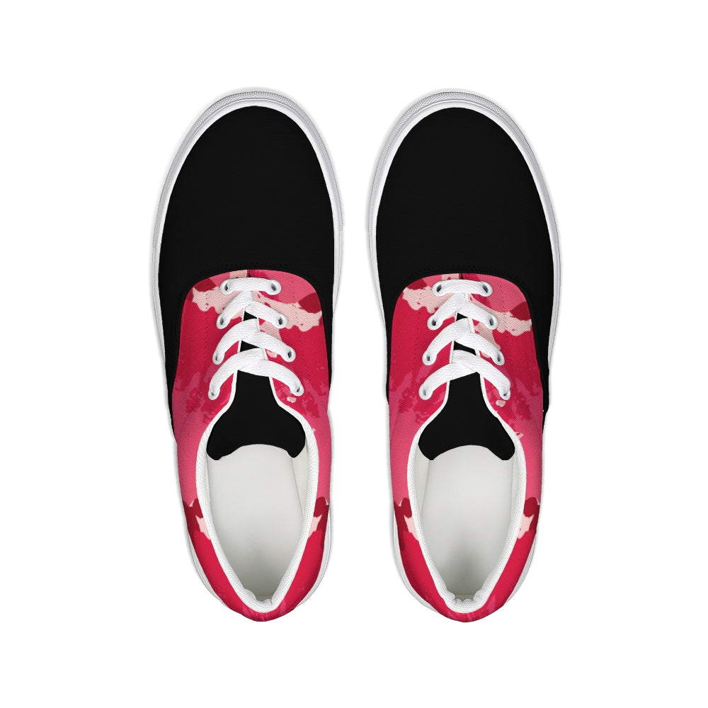 Kissable Lace Up Canvas Shoe