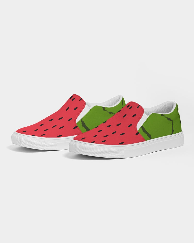 Water/Melon Slip-On Canvas Shoe