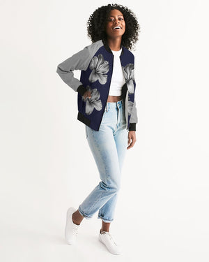 MidNight Flower Women's Bomber Jacket