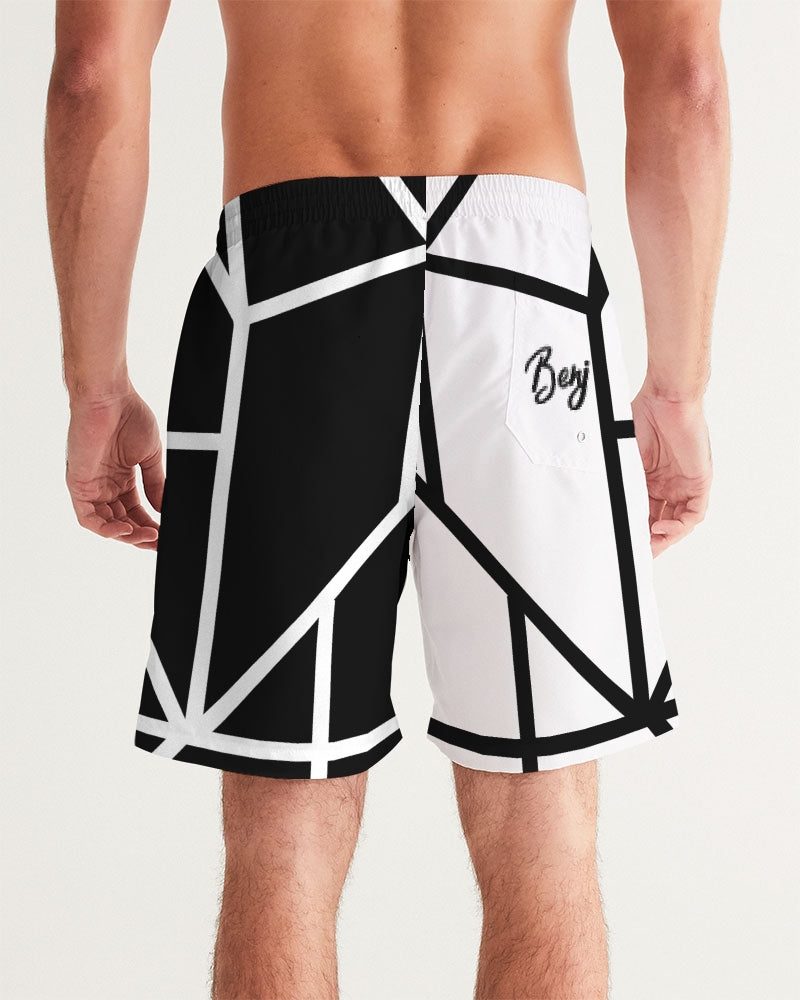 Black/White Swim Shorts