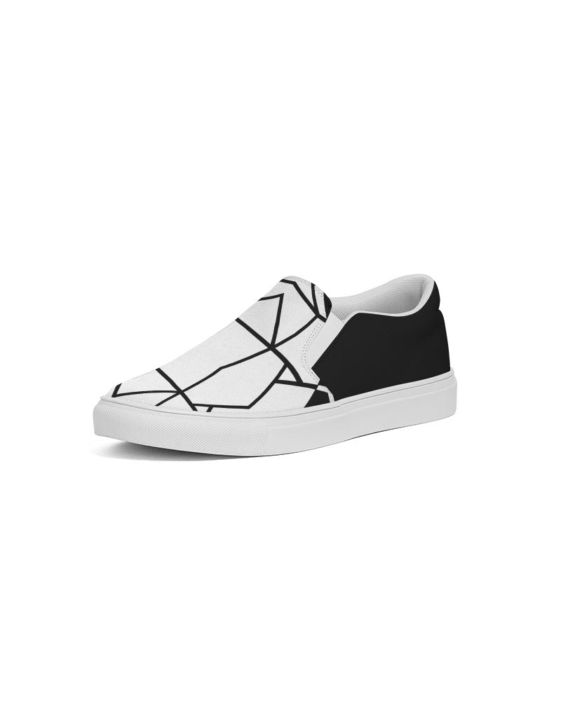 Black/White Slip-On Canvas Shoe