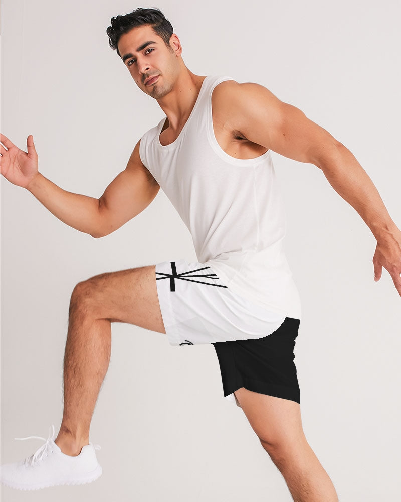 Black/White Jogger Shorts