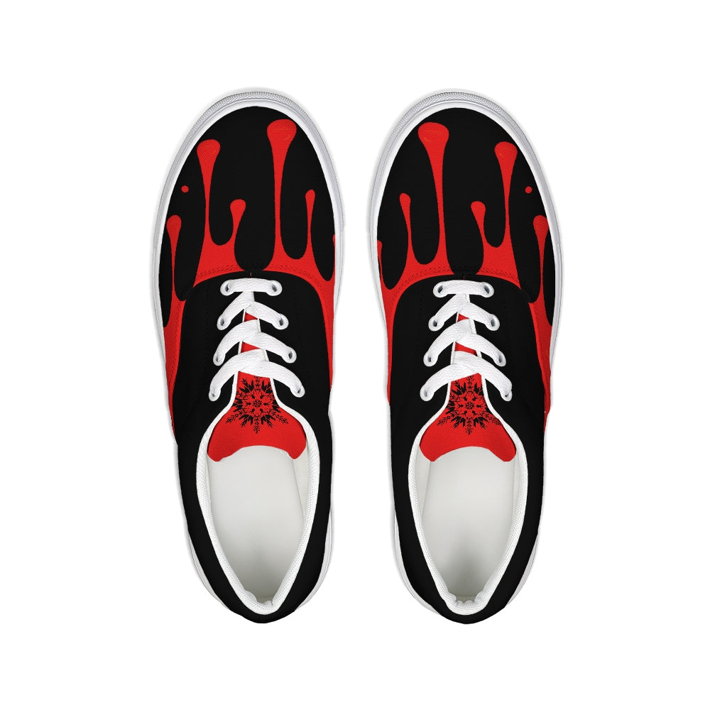 Tainted Heart Lace Up Canvas Shoe