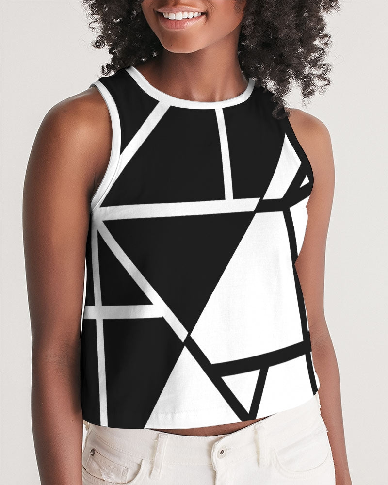 Black/White Cropped Tank