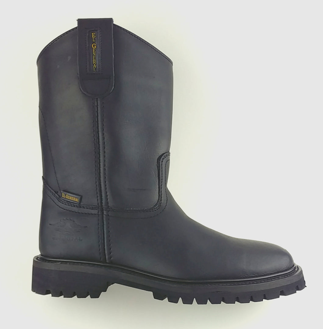 Full-Grain Leather Wellington Boot - Tractor Sole