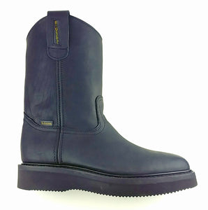 Full-Grain Leather Wellington Boot - Pinstripe Sole