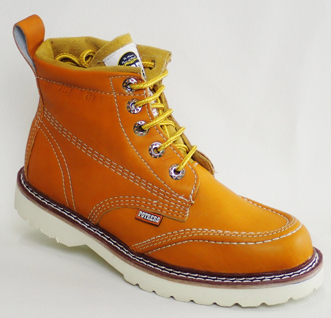 Leather Work Boot (Tan)