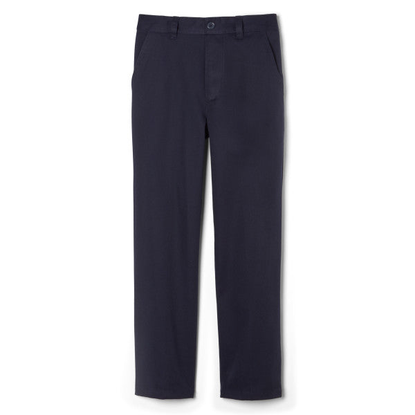 Boys Relaxed Fit Pull On School Pants (French Toast)