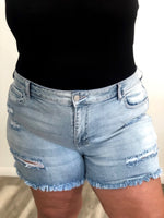 Distressed Jean Shorts (size 14-24)