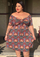 Carrys MultiColor Dress (extended sizes 4xl)