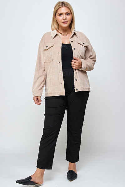 """Hold Me Hold Me"" Corduroy Jacket (extended sizes)"