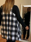 """Plaid The Game"" Long Cardigan Vest (2 colors)"