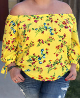 Floral Top (Yellow)