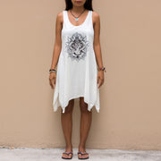 Loose Fit Mini Dress White