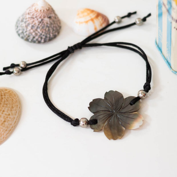 Boho Shell Bracelet Brown Sakura