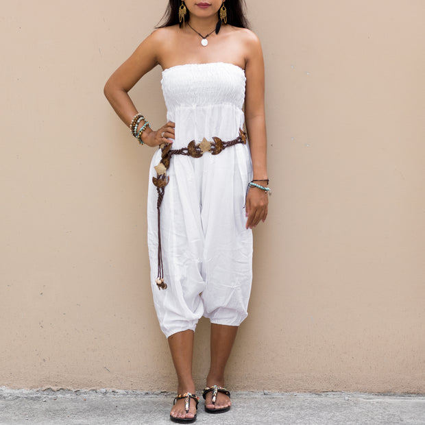 Harem Jumpsuit Pants White