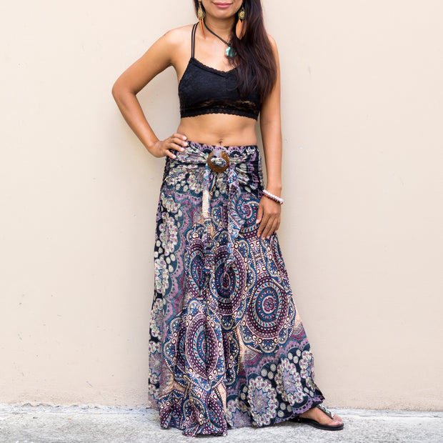 Maxi Skirt Women Mandala Mantra