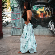 Maxi Boho Skirt Aquarelle