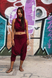 Harem Pants Short Men & Women Red