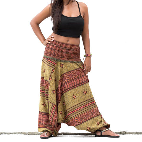 Harem Pants Aladdin Baggy Women & Men Green