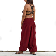 Harem Jumpsuit Pants Red