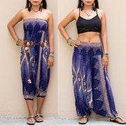 Harem Jumpsuit Pants Mandala Dark Blue