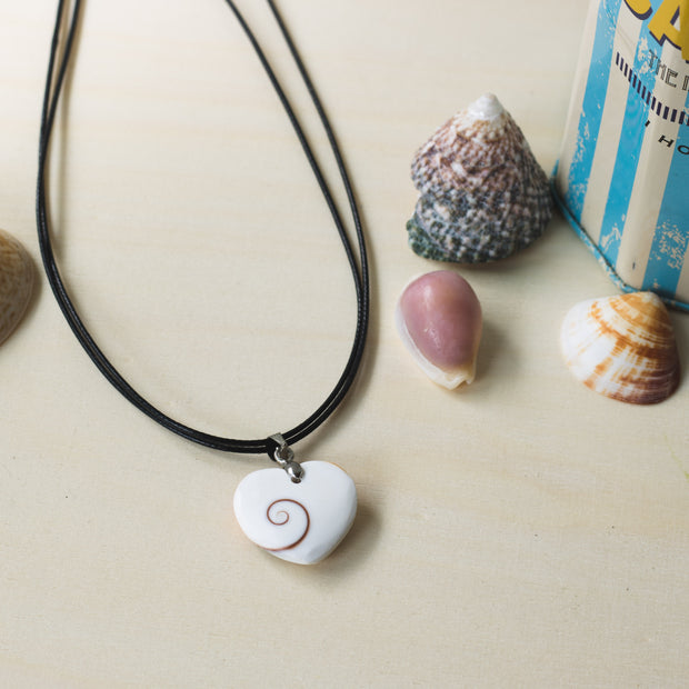 Shell Necklace Boho Style Jewelry  Heart