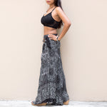 Maxi Skirt Women Mandala Black