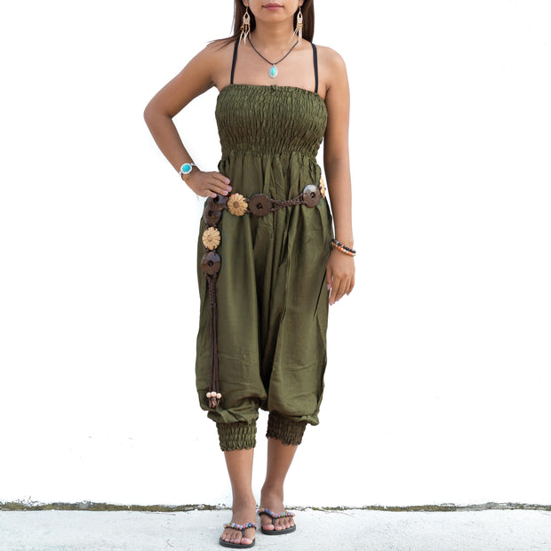 Harem Jumpsuit Pants Green