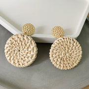 Bohemian Rattan Earrings