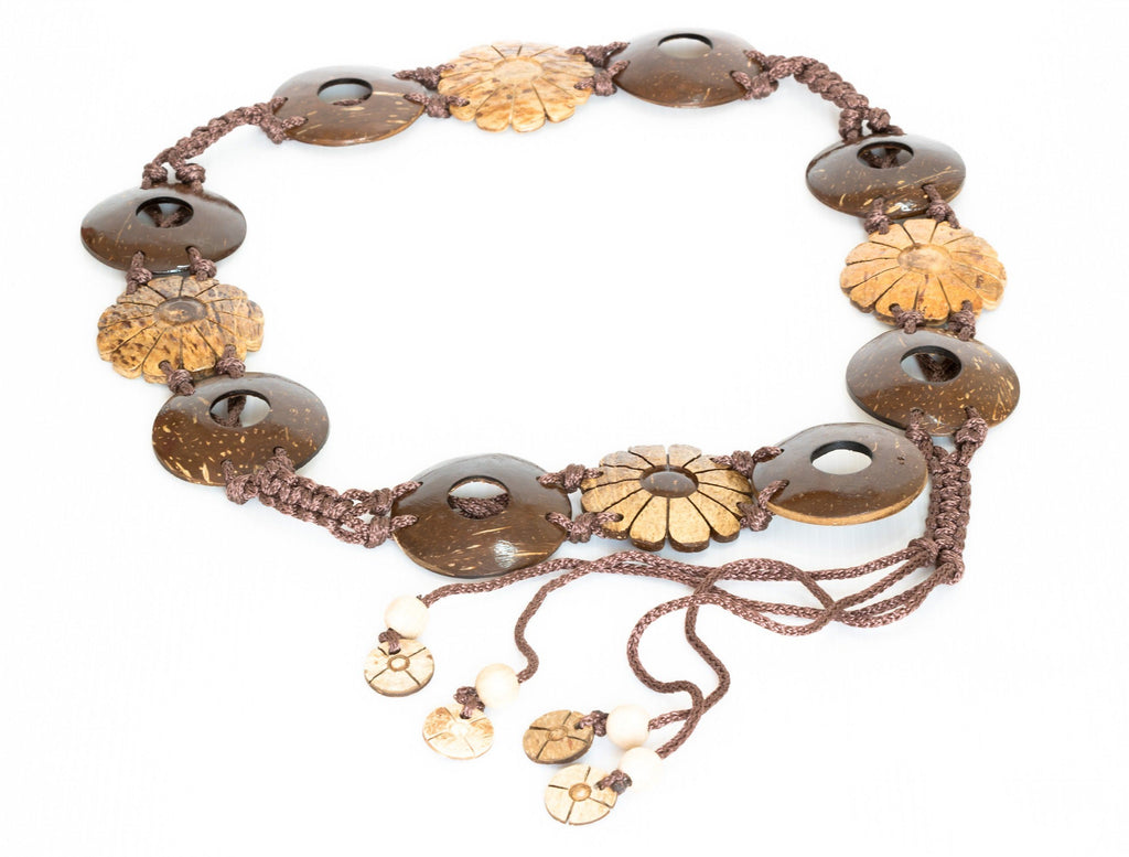 Bohemian Coconut Belt Women Flower