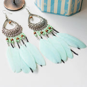 Bohemian Women Feather Earrings