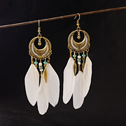 Boho Mantra Feather Earrings