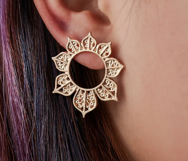 Mandala Brass Earrings