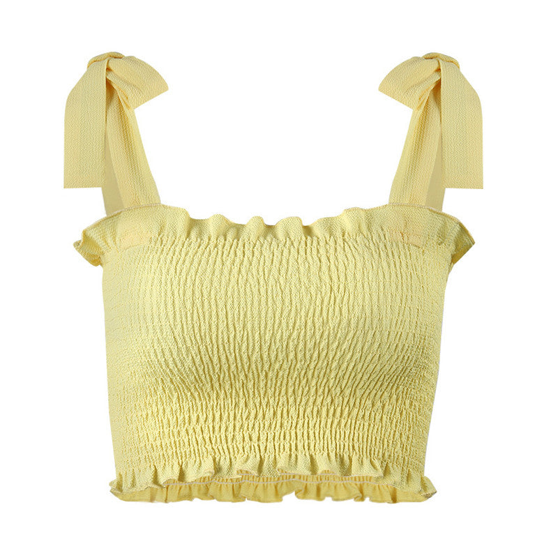 'AMELIE' Bow Runched Crop