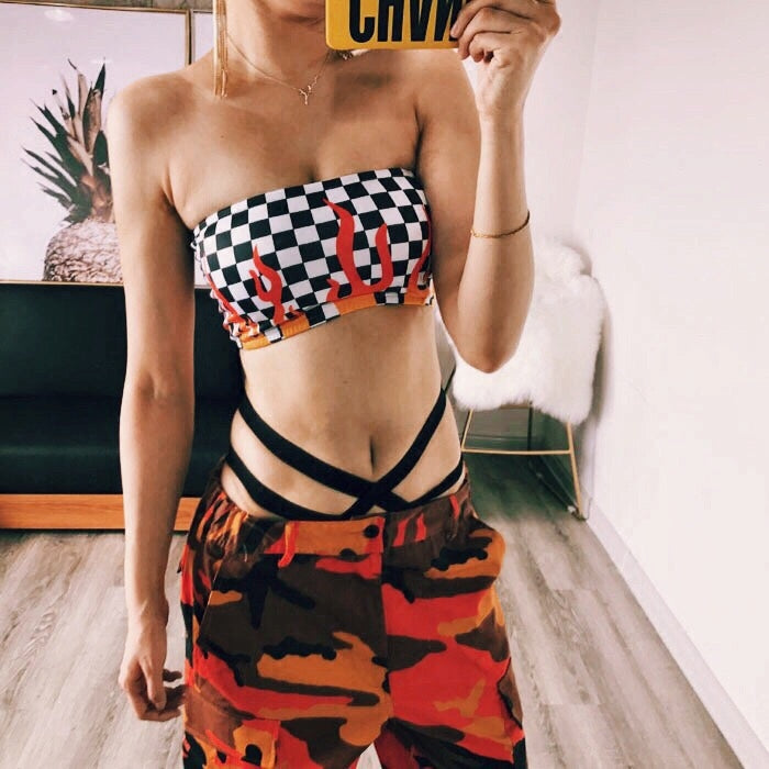 Flamin' Checkerboard Bandeau