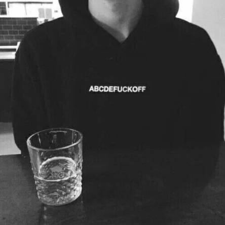 'ABCDEFUCKOFF' Hoodie