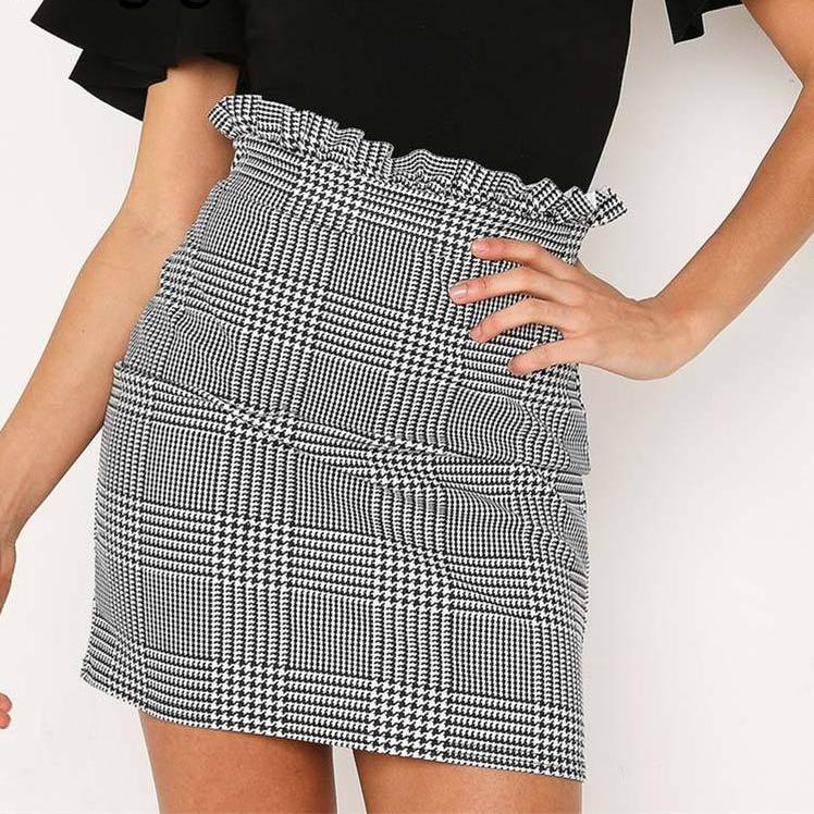 'JACINTA' Plaid Ruffle Skirt