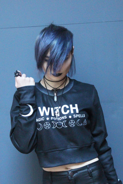 MAGIC * POTIONS * SPELLS | Cropped Sweatshirt