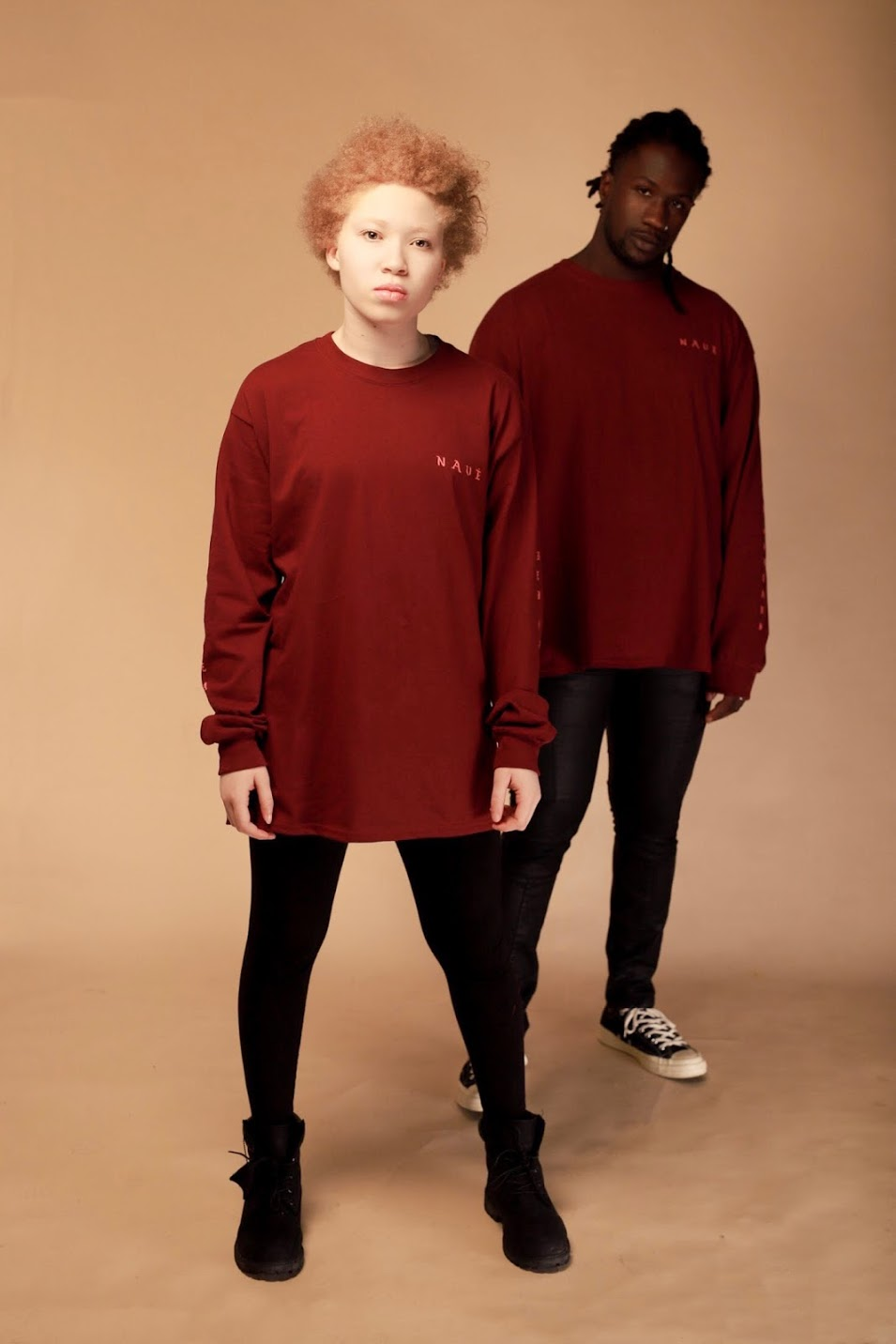"LONG SLEEVE ""DREAMER"" T - MAROON & ROSE"