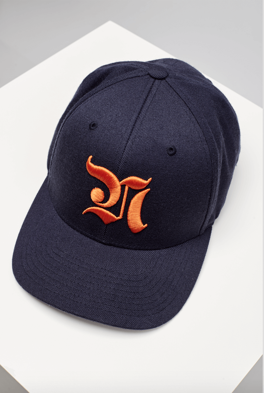NAVÉ HAT - NAVY & ORANGE