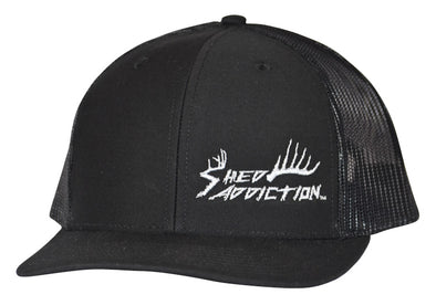 bca1b4dc9d Shed Addiction Richardson 112 Black Trucker Cap