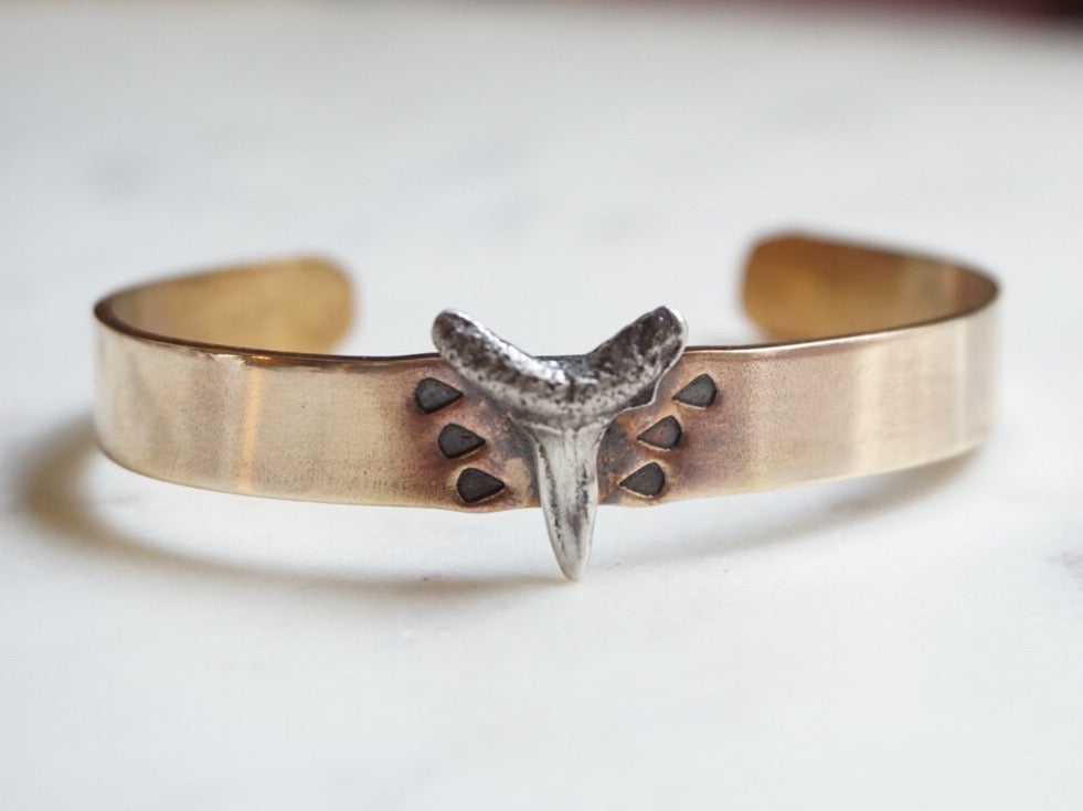 BRASS SHARK TOOTH CUFF