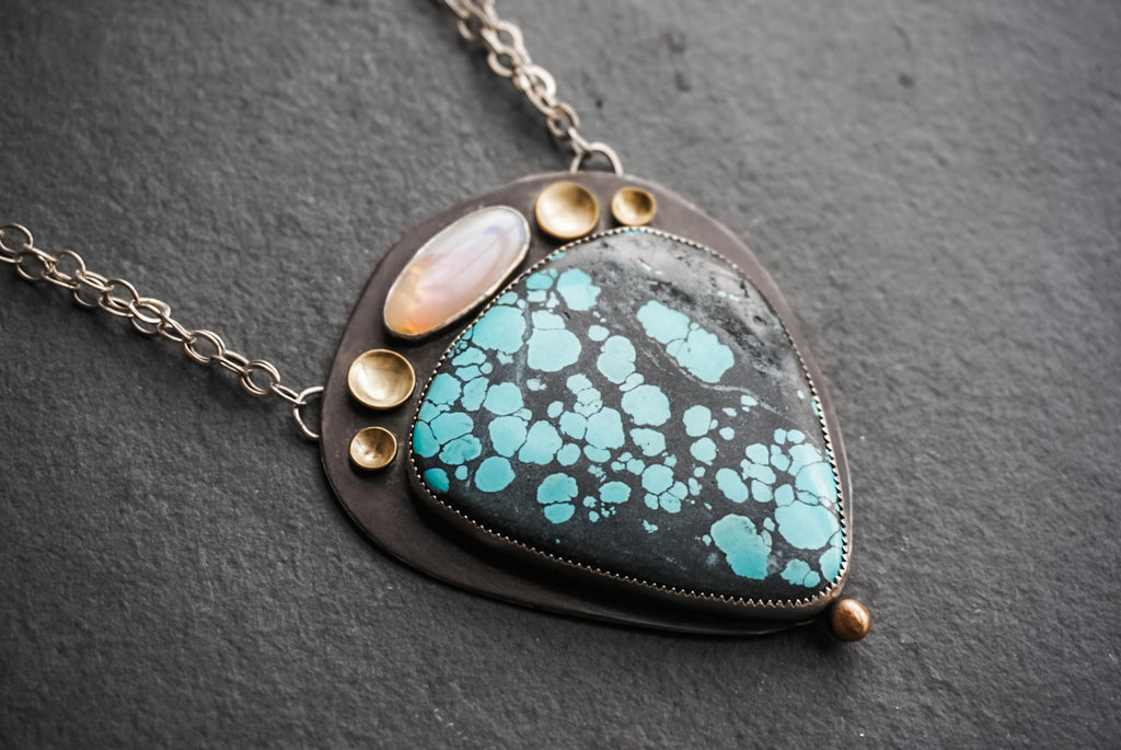 Turquoise + Opal Statement Necklace