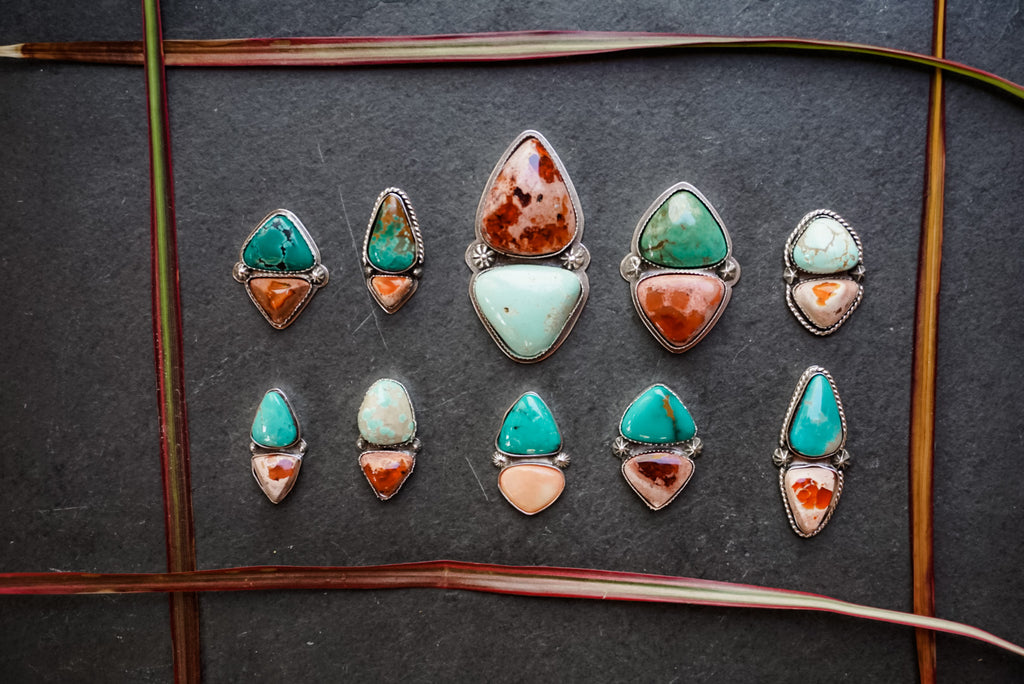 Turquoise + Fire Opal Made To Finish Sale