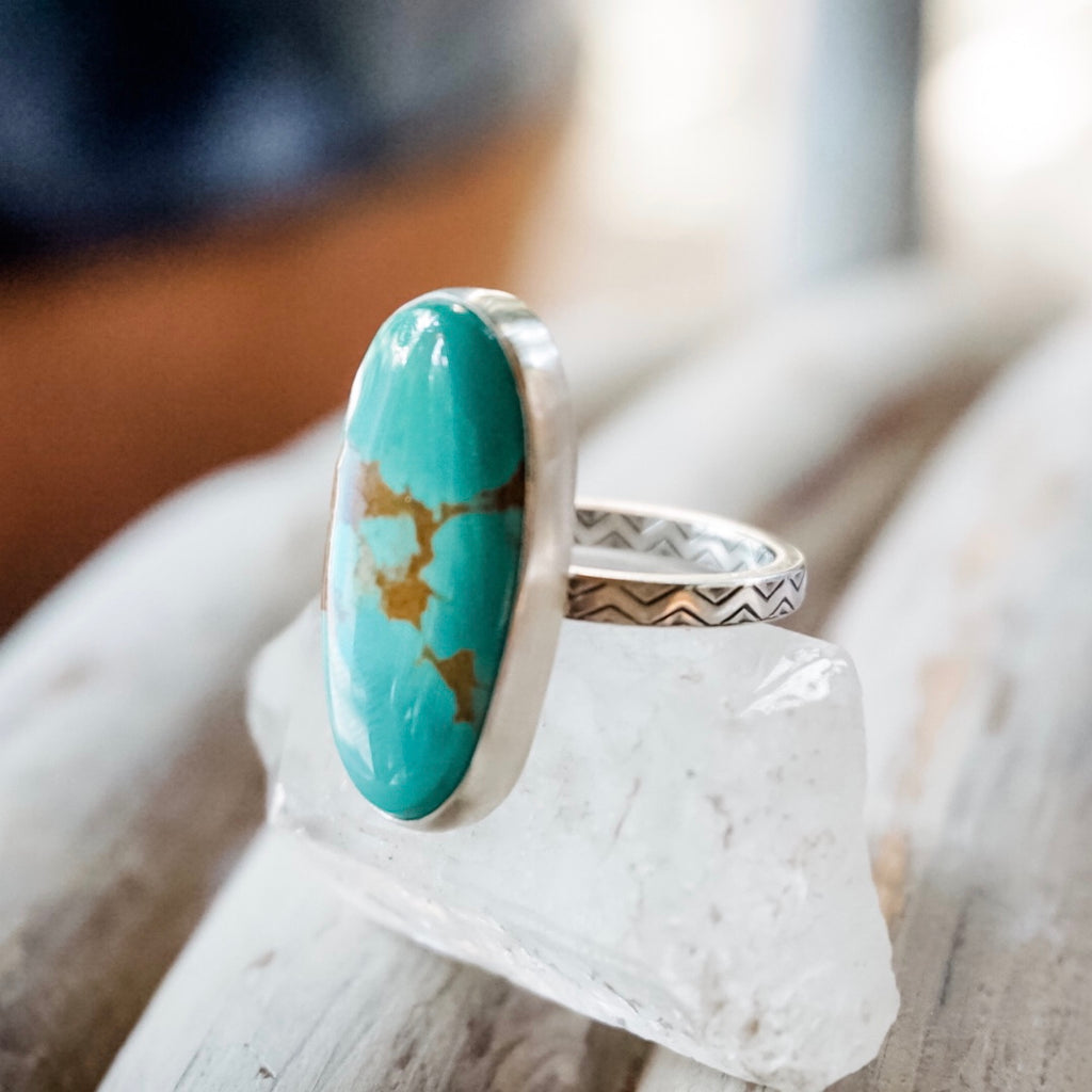 High Grade Royston Turquoise Ring | Size 8.5