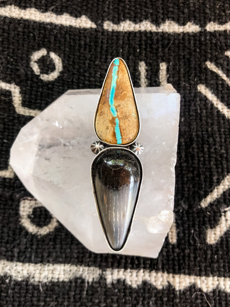 Shark Tooth + Royston Ribbon Statement Ring