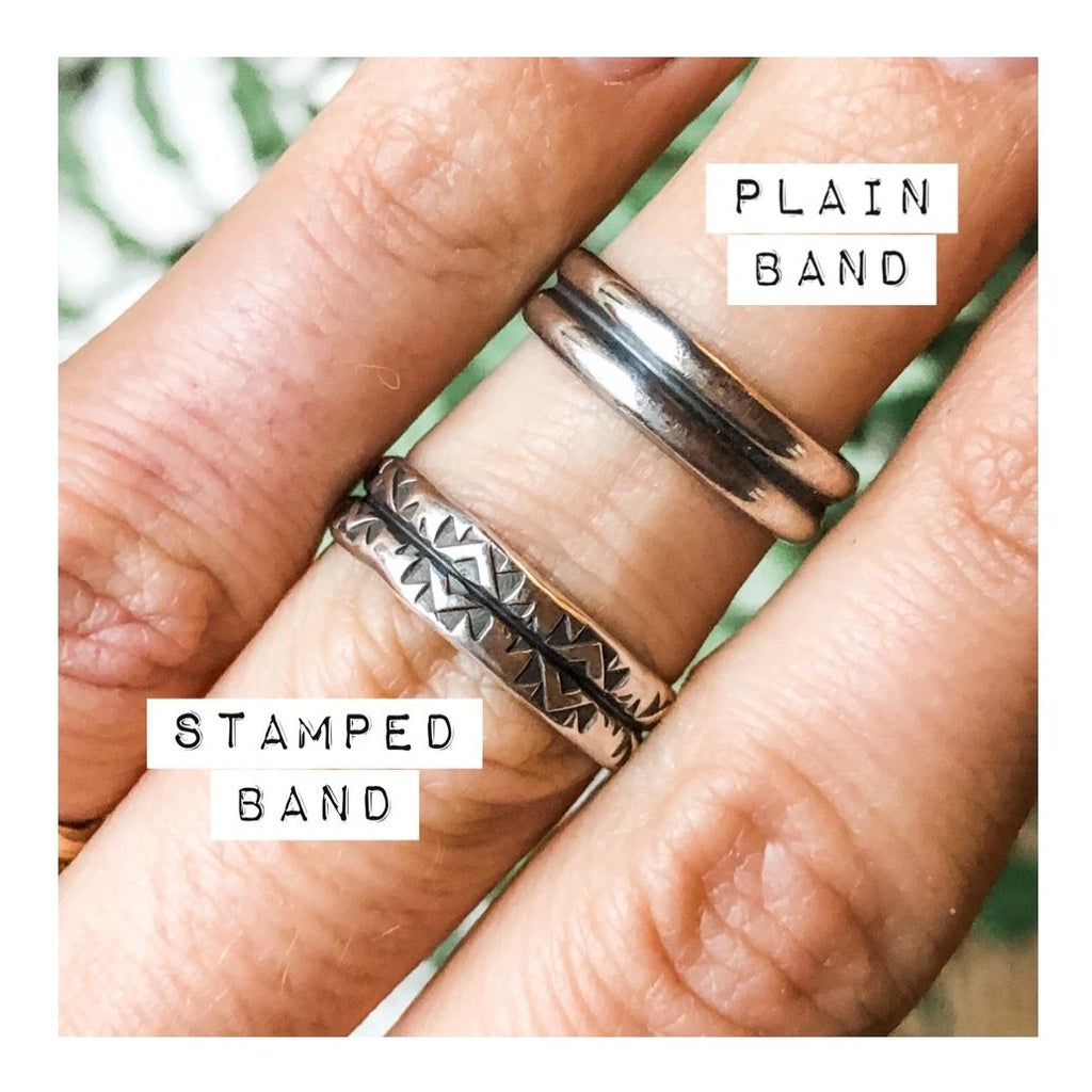 Made-to-Finish Stamped Band Rings | 2/17