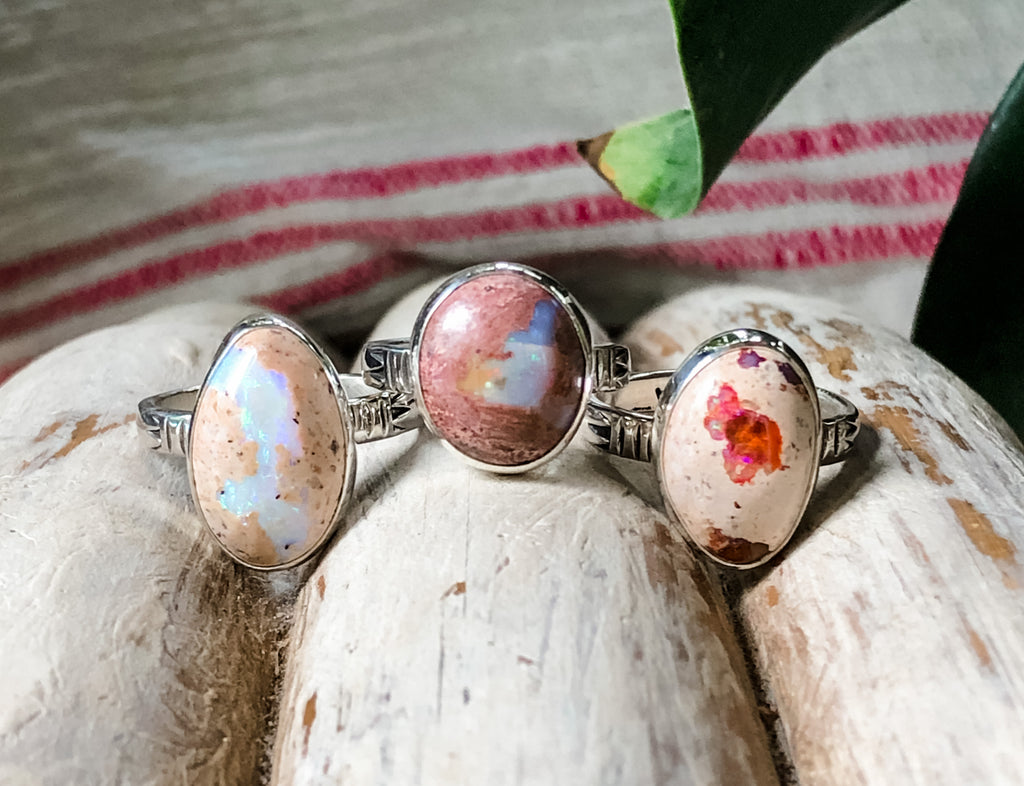 Mexican Fire Opal Ring | Size 8