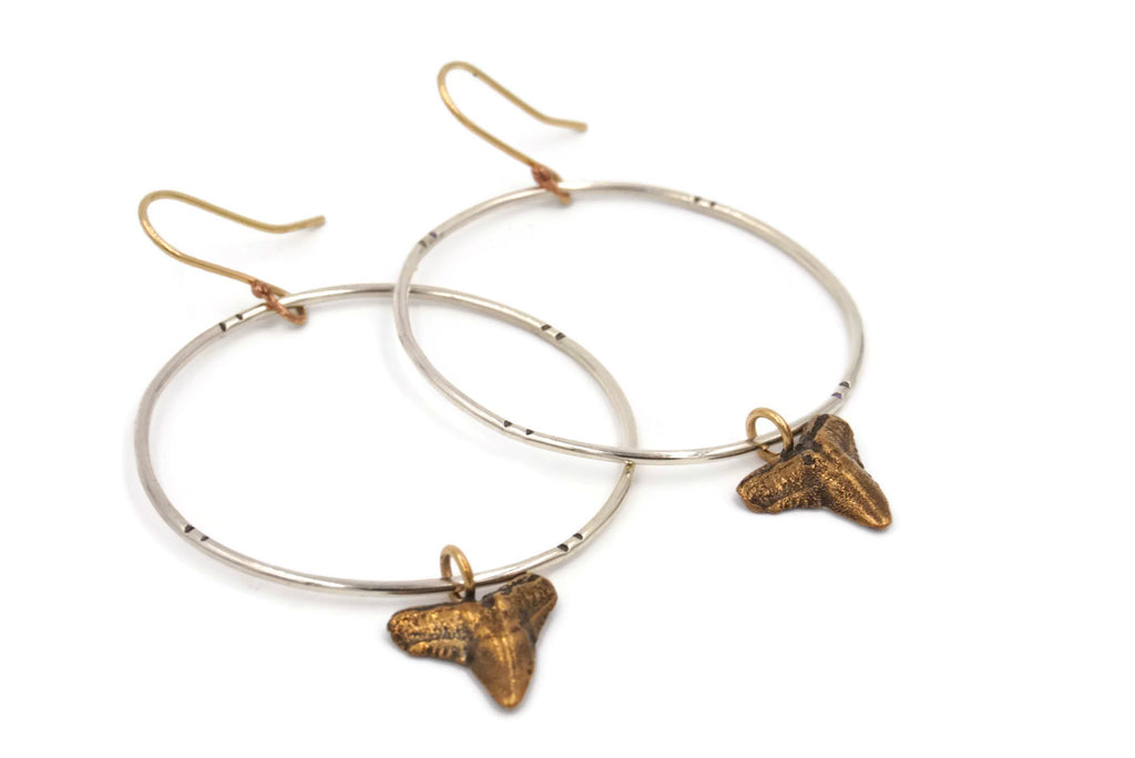 Hammerhead Hoop Earrings